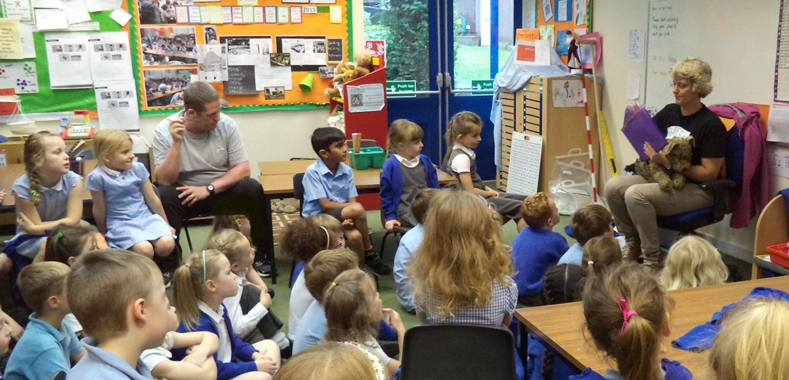 Ruffle's visit to Greystokes Primary School, Narborough